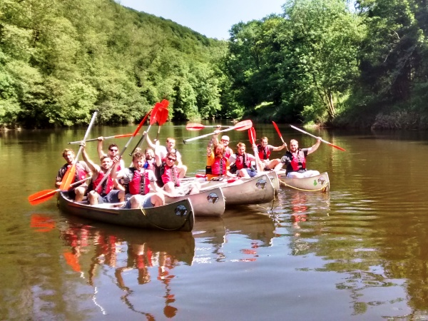 Canoeing The  River Wye Corporate Team Building Activity Days