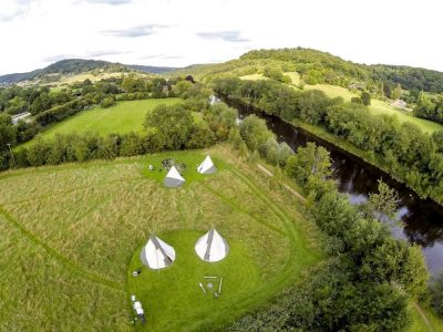 dventuAdventure River Monmouth Tipi Camping